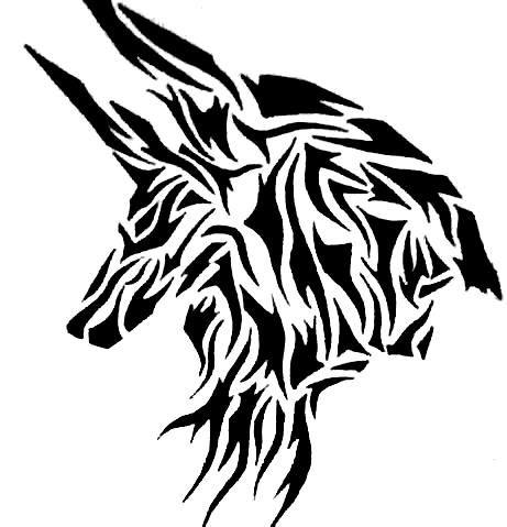 Anubis tribal - Dessiner un faucon ...